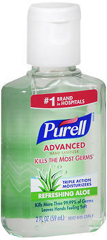 Purell Advanced Hand Sanitizer Refreshing Aloe - 2 OZ