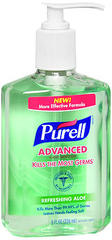 Purell Advanced Hand Sanitizer Refreshing Aloe - 8 OZ
