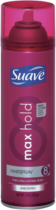 Suave Hairspray Aerosol Max Hold Unscented - 11 OZ