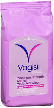 Vagisil Maximum Strength Anti-Itch Medicated Wipes - 20 EA