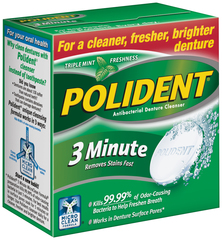 Polident 3 Minute Tablets - 40 TAB