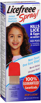 LiceFreee! Spray Instant Head Lice Treatment - 6 OZ