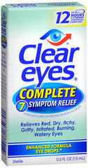 Clear Eyes Complete 7 Symptom Relief Eye Drops - 0.5 OZ
