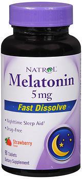 Natrol Melatonin 5 mg Fast Dissolve Tablets Strawberry Flavor - 90 TAB