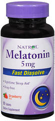 Natrol Melatonin 5 mg Fast Dissolve Tablets Strawberry Flavor - 90 TAB