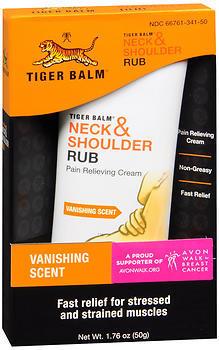 Tiger Balm Neck & Shoulder Rub Pain Relieving Cream - 1.76 OZ