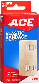 ACE Elastic Bandage with Clips 4 Inch - 1 EA