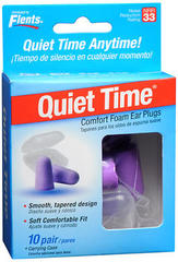 Flents Quiet Time Comfort Foam Ear Plugs #68000 - 10 EA