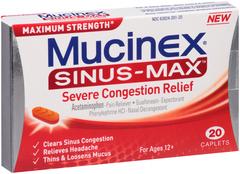 Mucinex Sinus-Max Severe Congestion Relief Caplets - 20 CAP