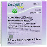 ConvaTec DuoDERM Signal Tapered Edge CGF Dressings 4 X 4 Inches 403326 - 5 EA
