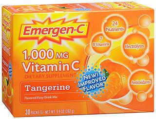 Emergen-C Vitamin C Drink Mix Packets Tangerine - 30 EA