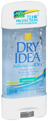 Dry Idea Advanced Dry Unscented Antiperspirant & Deodorant Clear Gel - 3 OZ