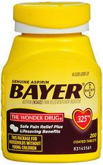 Bayer Aspirin 325 mg Coated Tablets - 200 TAB