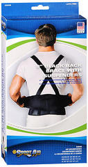 Sport Aid Back Brace with Suspenders XL Black - 1 EA