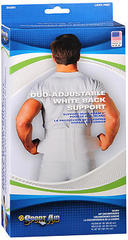 Sport Aid Duo-Adjustable White Back Support XS/SM - 1 EA