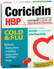 Coricidin HBP Cold and Flu Tablets - 20 TAB