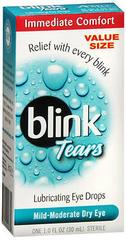 blink Tears Lubricating Eye Drops Mild-Moderate Dry Eye - 1 OZ