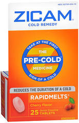Zicam Cold Remedy RapidMelts Cherry Flavor - 25 TAB