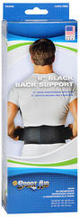 "Sport Aid 6"" Black Back Support - 1 EA"