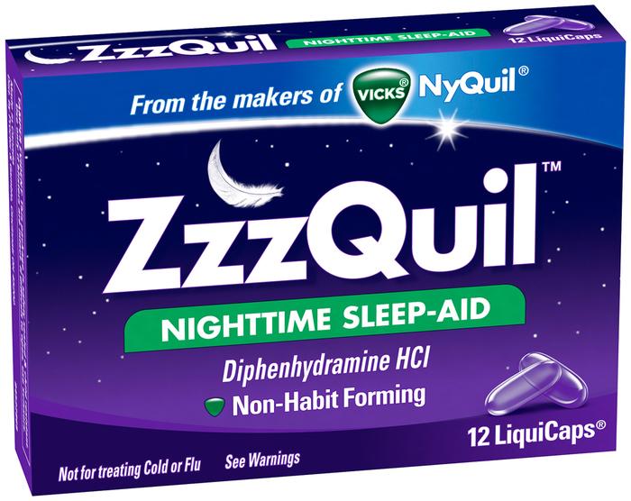 ZzzQuil Nighttime Sleep-Aid LiquiCaps - 12 CAP