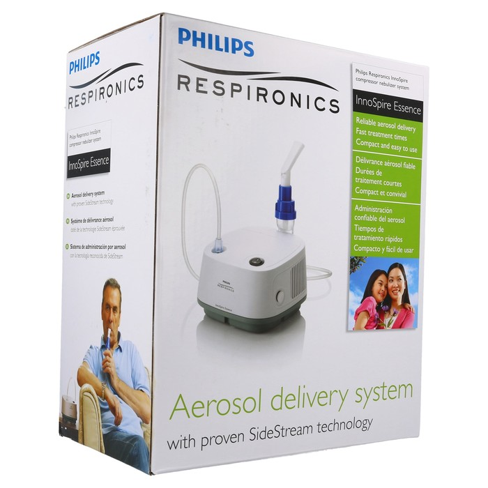 Philips Respironics InnoSpire Essence Compressor Nebulizer System - Aerosol Delivery System with SideStream technology