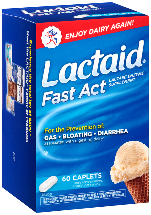 LACTAID Fast Act Caplets - 60 TAB