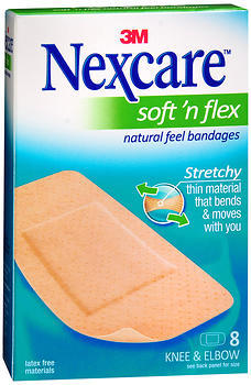 Nexcare Soft 'n Flex Bandages Knee and Elbow - 8 EA