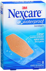Nexcare Waterproof Bandages Knee & Elbow - 8 EA
