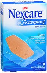 Nexcare Waterproof Bandages Knee & Elbow - 8 EA