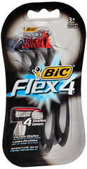 Bic Flex 4 Disposable Shavers Sensitive Skin - 3 EA