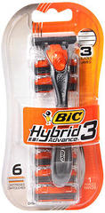 Bic Hybrid Advance 3 Shaver - 6 EA