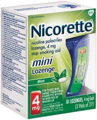 Nicorette 4 mg Mini Lozenges Mint - 0.0666 OZ