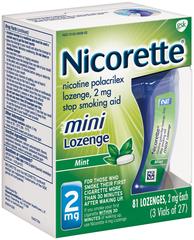 Nicorette 2 mg Mini Lozenges Mint - 81 EA
