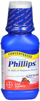 Phillips' Milk of Magnesia Concentrated Liquid Fresh Strawberry Flavor - 8 OZ