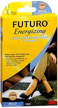 FUTURO Womens Energizing Ultra Sheer Pantyhose French Cut