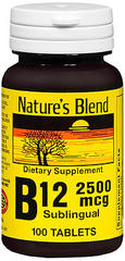 Nature's Blend B12 2500 mcg Sublingual Tablets - 100 TAB
