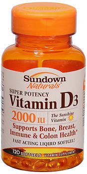 Sundown Naturals Vitamin D3 2000 IU Softgels - 120 CAP