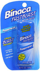 Binaca Fast Blast Breath Spray PepperMint - 0.5 OZ