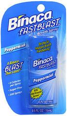 Binaca Fast Blast Breath Spray PepperMint - 0.5 OZ