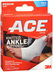 ACE Knitted Ankle Support Medium - 1 EA