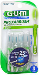 GUM Proxabrush Go-Betweens Cleaners with Antibacterial Bristles - 8 CT
