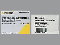 Floranex Lactobacillus Granules Dietary Supplement - 12 Pack