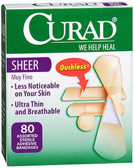Curad Sheer Bandages Assorted Sizes - 80 EA