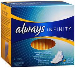 Always Infinity Flexi-Wings Pads Regular Flow - 18 EA