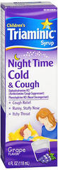 Triaminic Children's Night Time Cold & Cough Syrup Grape - 4 OZ