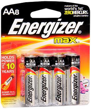 Energizer Max Alkaline AA Batteries - 8 EA