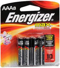 Energizer Max + PowerSeal Alkaline Batteries AAA - 8 EA