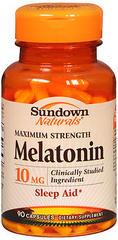 Sundown Naturals Melatonin 10 mg Dietary Supplement Capsules Maximum Strength - 90 CAP