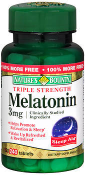 Nature's Bounty Melatonin 3 mg Tablets Triple Strength - 240 TAB