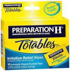 Preparation H Totables Irritation Relief Wipes - 10 EA